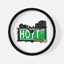 HOYT ST, BROOKLYN, NYC Wall Clock