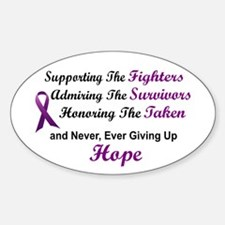 Supporting Admiring Honoring 1 (Purple) Decal