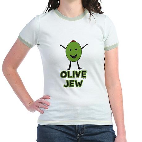 Olive Jew! Jr. Ringer T-Shirt