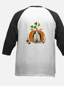 Autumn Pumpkin Westie Kids Baseball Jersey