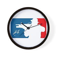Major League type Infidel Wall Clock