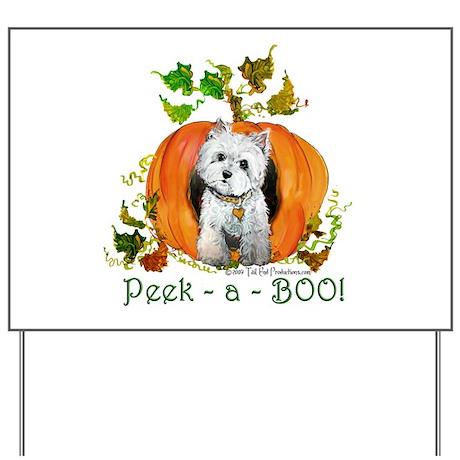 Autumn Pumpkin Westie Yard Sign
