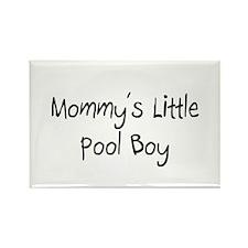 Mommy's Little Pool Boy Rectangle Magnet