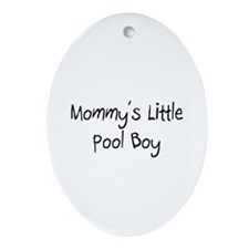 Mommy's Little Pool Boy Oval Ornament