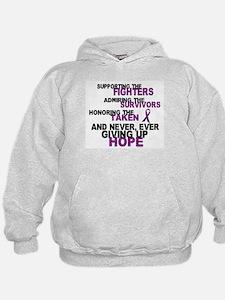 Supporting Admiring Honoring 3 (Purple) Hoodie