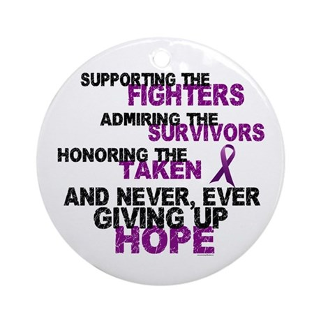 Supporting Admiring Honoring 3 (Purple) Ornament (