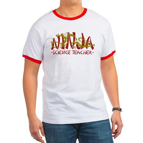 Dragon Ninja Science Teacher Ringer T
