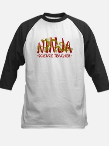 Dragon Ninja Science Teacher Kids Baseball Jersey