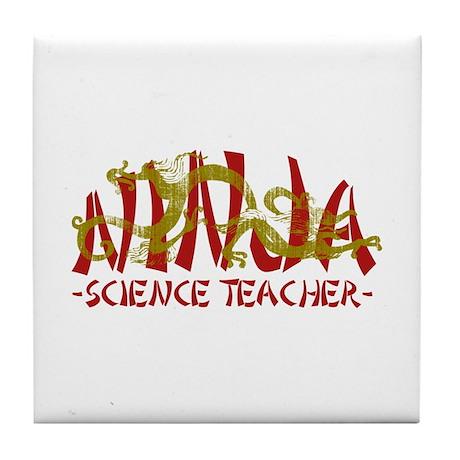 Dragon Ninja Science Teacher Tile Coaster