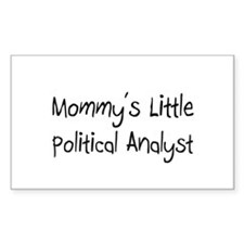 Mommy's Little Political Analyst Sticker (Rectangl