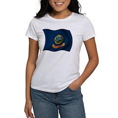 Wavy Idaho Flag Women's T-Shirt