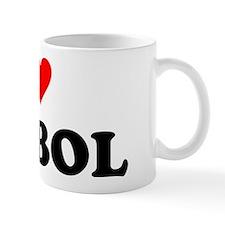 I Love Futbol Mug