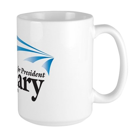 Hillary Stripes Design Large Mug