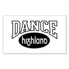HIGHLAND STICKERS Rectangle Decal