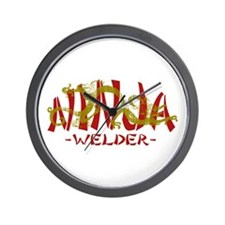 Dragon Ninja Welder Wall Clock