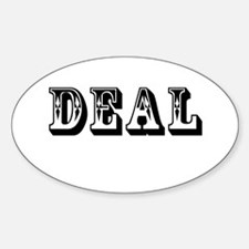 Deal Oval Decal