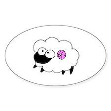 Wool - Yarn Fiber Oval Decal