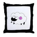 Wool - Yarn Fiber Throw Pillow