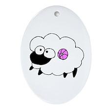 Wool - Yarn Fiber Oval Ornament