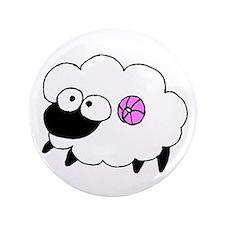 """Wool - Yarn Fiber 3.5"""" Button"""