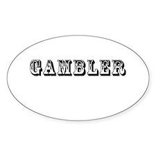 Gambler Oval Decal