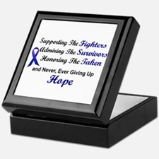 Supporting Admiring Honoring 1 (Blue) Keepsake Box
