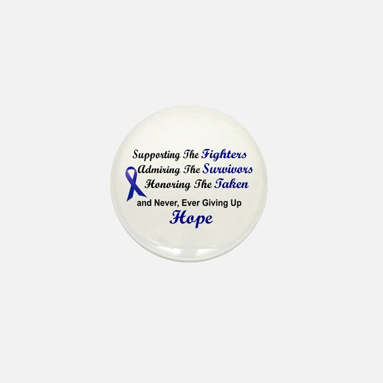 Supporting Admiring Honoring 1 (Blue) Mini Button
