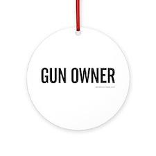 GUN OWNER Ornament (Round)