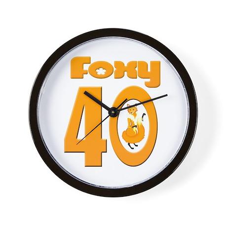 Foxy 40 Wall Clock