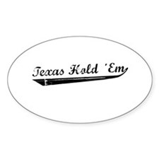 Texas Hold Em Oval Decal