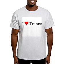 I Love Trance Ash Grey T-Shirt