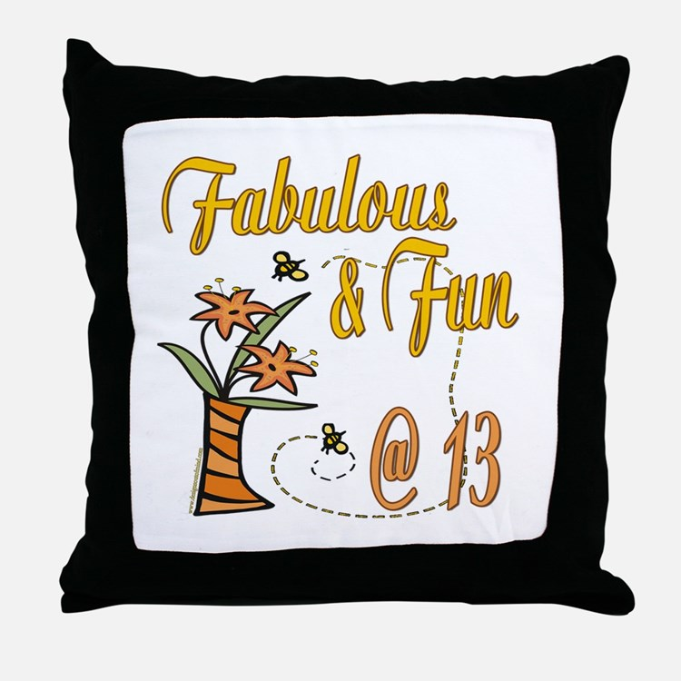 Floral 13th Throw Pillow