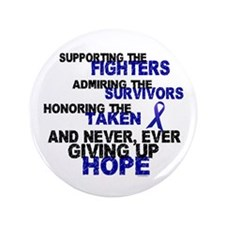 """Supporting Admiring Honoring 3 (Blue) 3.5"""" Button"""