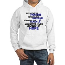 Supporting Admiring Honoring 3 (Blue) Hoodie