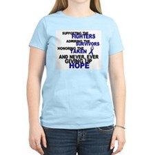 Supporting Admiring Honoring 3 (Blue) T-Shirt