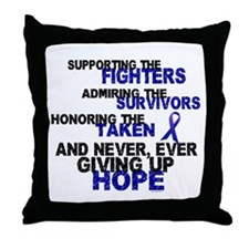 Supporting Admiring Honoring 3 (Blue) Throw Pillow
