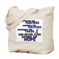 Supporting Admiring Honoring 3 (Blue) Tote Bag
