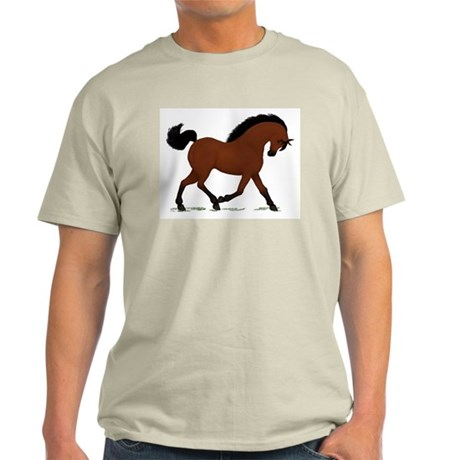 Bay Trotting Horse Pony Light T-Shirt