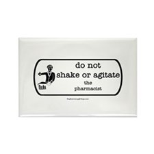 Do not shake or agitate pharm Rectangle Magnet