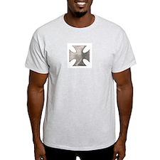 IRON BLADE CROSS (BIKER LOOK) Ash Grey T-Shirt