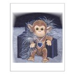 CUTE MONKEY LOOK Small Poster