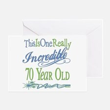 Incredible 70th Greeting Card