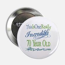 "Incredible 70th 2.25"" Button"