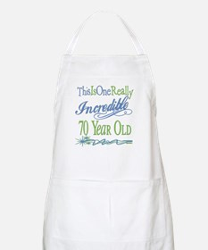 Incredible 70th BBQ Apron