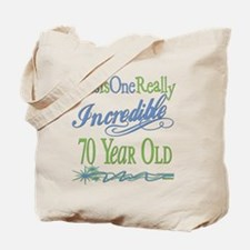 Incredible 70th Tote Bag