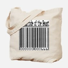 Barcode of the Beast (text) Tote Bag