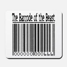 Barcode of the Beast (text) Mousepad