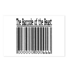 Barcode of the Beast (text) Postcards (Package of