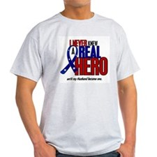 Never Knew A Hero 2 Military (Husband) T-Shirt