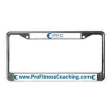 Professional Fitness Coaching License Plate Frame